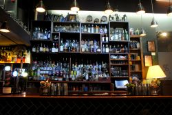 The Bar and our small selection of booze Gallery